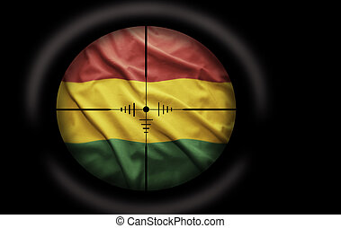 Bolivian Target - Sniper scope aimed at the Bolivian flag