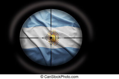 Argentinean Target - Sniper scope aimed at the Argentinean...
