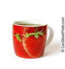 Cup of tea on white - Bright cup of tea isolated on a white...