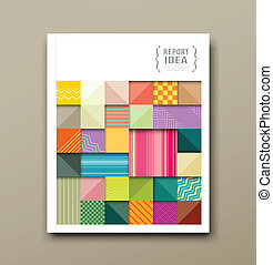 colorful pattern fabrics square - Cover annual report,...