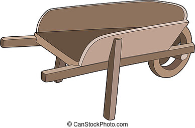 Wheelbarrow Vector Clipart Illustrations. 1,106 ...