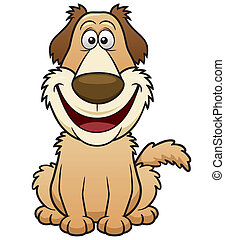 Cartoon Dog - Vector illustration of Cartoon Dog
