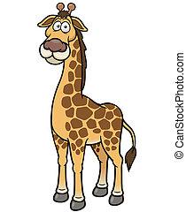 Giraffe - Vector illustration of giraffe cartoon