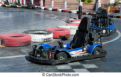 Go-Kart - Empty go-kart by side of track