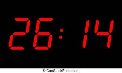4K Red Digital Countdown