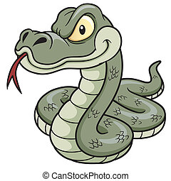 Cartoon Snake - Vector Illustration of Cartoon Snake