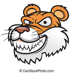 Tiger Head - Vector illustration of Tiger Head