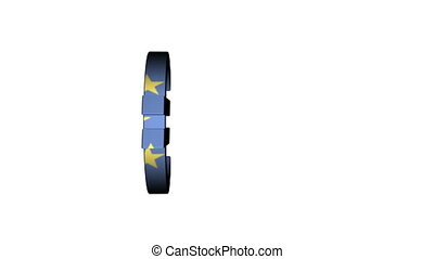 European Union Euro Flag Reflection - A three dimensional...