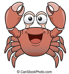Cartoon crab - Vector illustration of Cartoon crab
