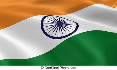 4K Indian Flag - Indian flag waving in the wind Part of a...
