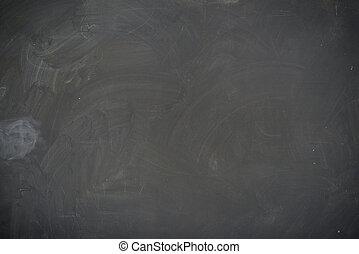 Blackboard ( chalkboard ) texture. Empty blank black chalkboard with chalk traces