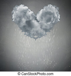 Cloud rain weather concept - Cloud rain weather heart love...