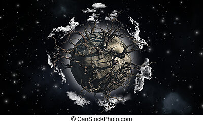Abstract planet scene