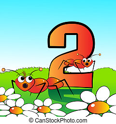 Numbers serie for kids - #02 - Animals and numbers series...