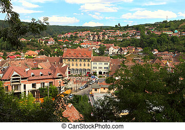 SIGHISOARA, ROMANIA - AUGUST 10: Sighisoara Medieval...