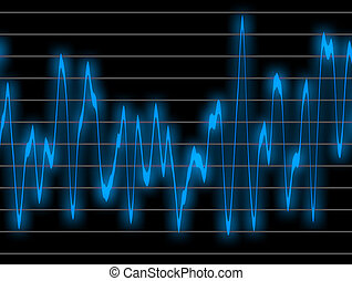 Digital sound - Graphic of a digital sound. Can be used as...