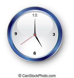clockface  - Illustration of a standard clockface