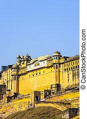 Famous Rajasthan landmark - Amer Amber fort, Rajasthan,...