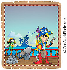 Parchment with pirate ship deck 4