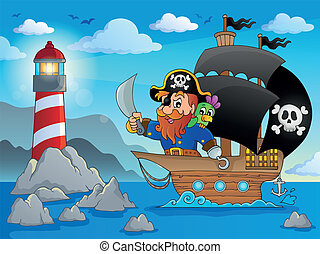 Pirate ship theme image 2