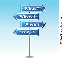Vector arrows questions - Vector illustration of arrows...