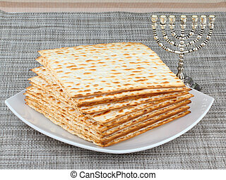 matzo - Matzo or matzah is bread traditionally eaten by Jews...