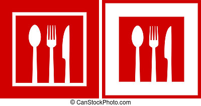 red  restaurant icons