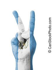 mano, Elaboración, V, señal, guatemala,...