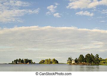 Archipelago - Scandinavian archipelago with houses and...