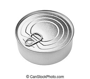 Tin can - Round tin can isolated on white