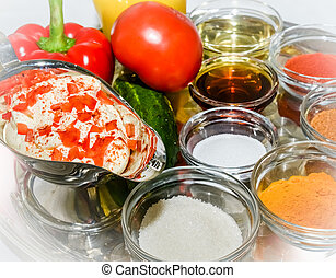 spice seasoning - variety of spices and seasoning for...