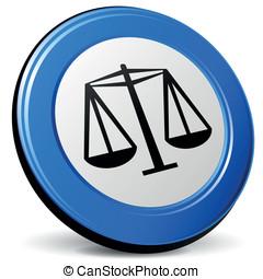 Vector justice 3d icon