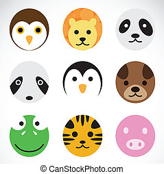 Animal vector icons on white background