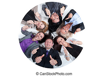 projection, équipe,  Business, signe