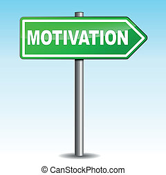 Motivation arrow sign - Vector illustration of motivation...