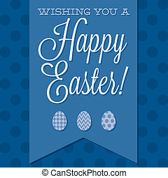 Retro style Happy Easter card in vector format