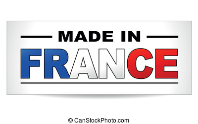 Vector made in france paper label