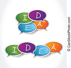 idea message bubble illustration design over a white...