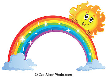 Image with rainbow theme 9 - eps10 vector illustration.