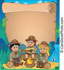 Children scouts theme parchment 1 - eps10 vector...