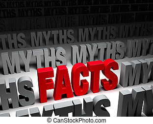 Bright Facts Vs Dark Myths - A glaring bright, red FACTS...