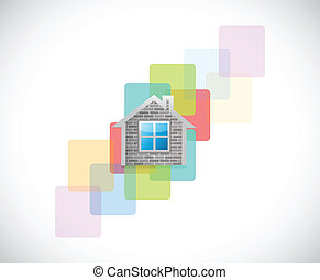 real estate home graphic illustration design