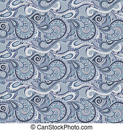 Seamless paisley pattern - Decorative floral paisley...