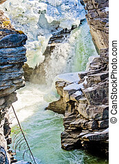 Athabasca Falls of jasper Area