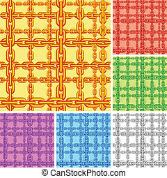 Seamless chain pattern. - Seamless pattern of crossed color...