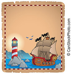 Pirate theme parchment 7 - eps10 vector illustration.