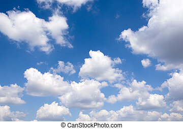 Group of clouds - Large group of white clouds over the blue...
