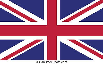 Flag of United Kingdom - United Kingdom flag vector...