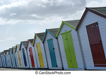Beach Cabins - Typical beach cabins in the south of England