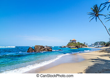 Tayrona National Park Beach - Idyllic tropical Caribbean...